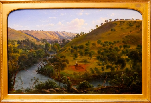 SA ART GALLERY - COLONIAL ART - EUGENE VON GUERARD - Early settlement of Thomas & William Lang, Salt River Port Phillip, NSW. March, 1840