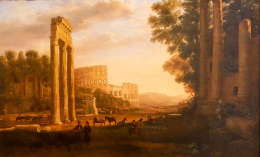 SA ART GALLERY - INTERNATIONAL COLLECTION - 17TH CENTURY - CLUDE LORRAIN - Capriccio with ruins of the Roman Forum (c. 1634)