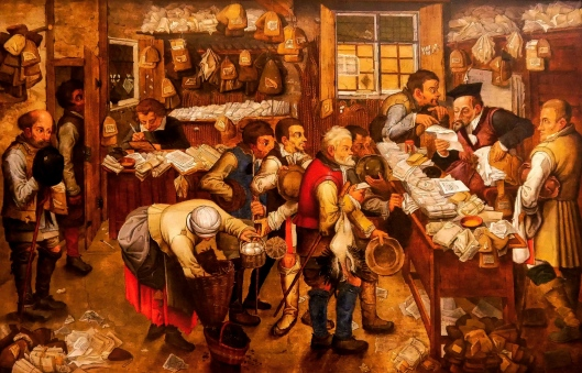 SA ART GALLERY - INTERNATIONAL COLLECTION - 17TH CENTURY - PETER BRUEGHEL II - The tax-collector's office (c. 1615)