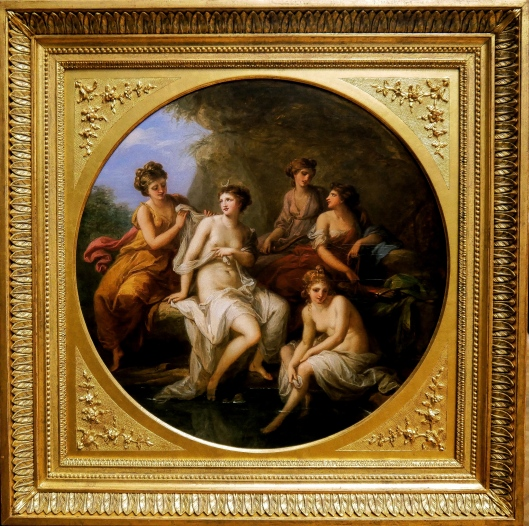 SA ART GALLERY - INTERNATIONAL COLLECTION - 18TH CENTURY - ANGELICA KAUFFMANN - Diana and her nymphs bathing (c. 1778-82)