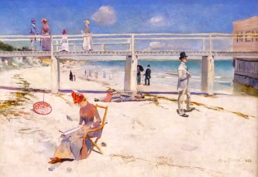 SA ART GALLERY - MODERNS - CHARLES CONDER - A holiday in Mentone (1888)