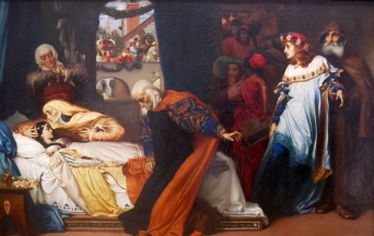 THE FEIGNED DEATH OF JULIET (1856-58) - FREDERIC LEIGHTON